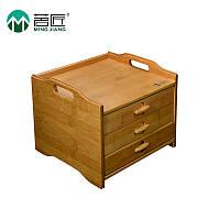 Ящик для зберігання чаю Пуер, бамбуковий