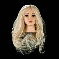 Учебная голова 100% натуральная блондинка Fantom 50-55 см