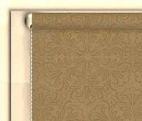 """Тканевые рулонные шторы """"DecoLUX"""" металлик принт (бежевый), РАЗМЕР 97,5х170 см , фото 1"""