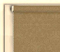 """Тканинні рулонні штори """"DecoLUX"""" металік принт (бежевий), РОЗМІР 70х170 см, фото 1"""