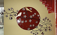 Декоративное панно из металла «Сакура»