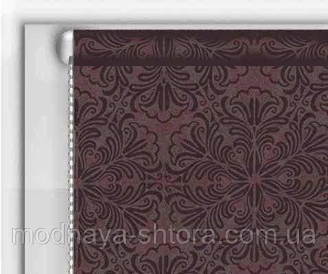 "Тканевые рулонные шторы ""DecoLUX"" металлик принт (шоколад), РАЗМЕР 75х170 см"