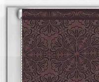 """Тканевые рулонные шторы """"DecoLUX"""" металлик принт (шоколад), РАЗМЕР 75х170 см , фото 1"""