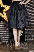 Фатиновая женская юбка миди на подкладке
