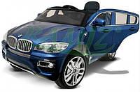 Детский электромобиль BMW X6 MP3 синий металик В НАЛИЧИИ Наложка
