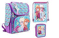 Набор 1 Вересня Frozen purple-1  рюкзак 553273 , пенал 531374 , сумка 553599