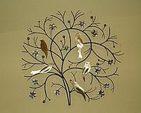 Панно «Птицы на дереве»