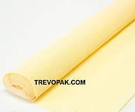Креп бумага светло-желтая №577   Италия