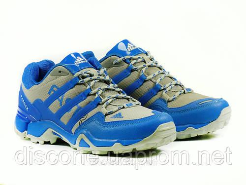 Кроссовки текстиль серые/синие Adidas шнурок