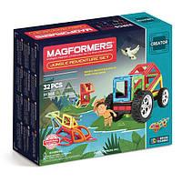 Магнитный конструктор Приключения в джунглях, 32 элемента, серия Фантазер, Magformers