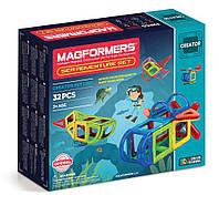 Магнитный конструктор Путешествие к морским глубинам, 32 элемента, серия Фантазер, Magformers