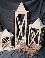 Декоративный подсвечник фонарь 25 см Белый, фото 2