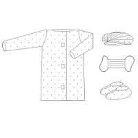 Комплект одежды для посетителей № 6, стерильный