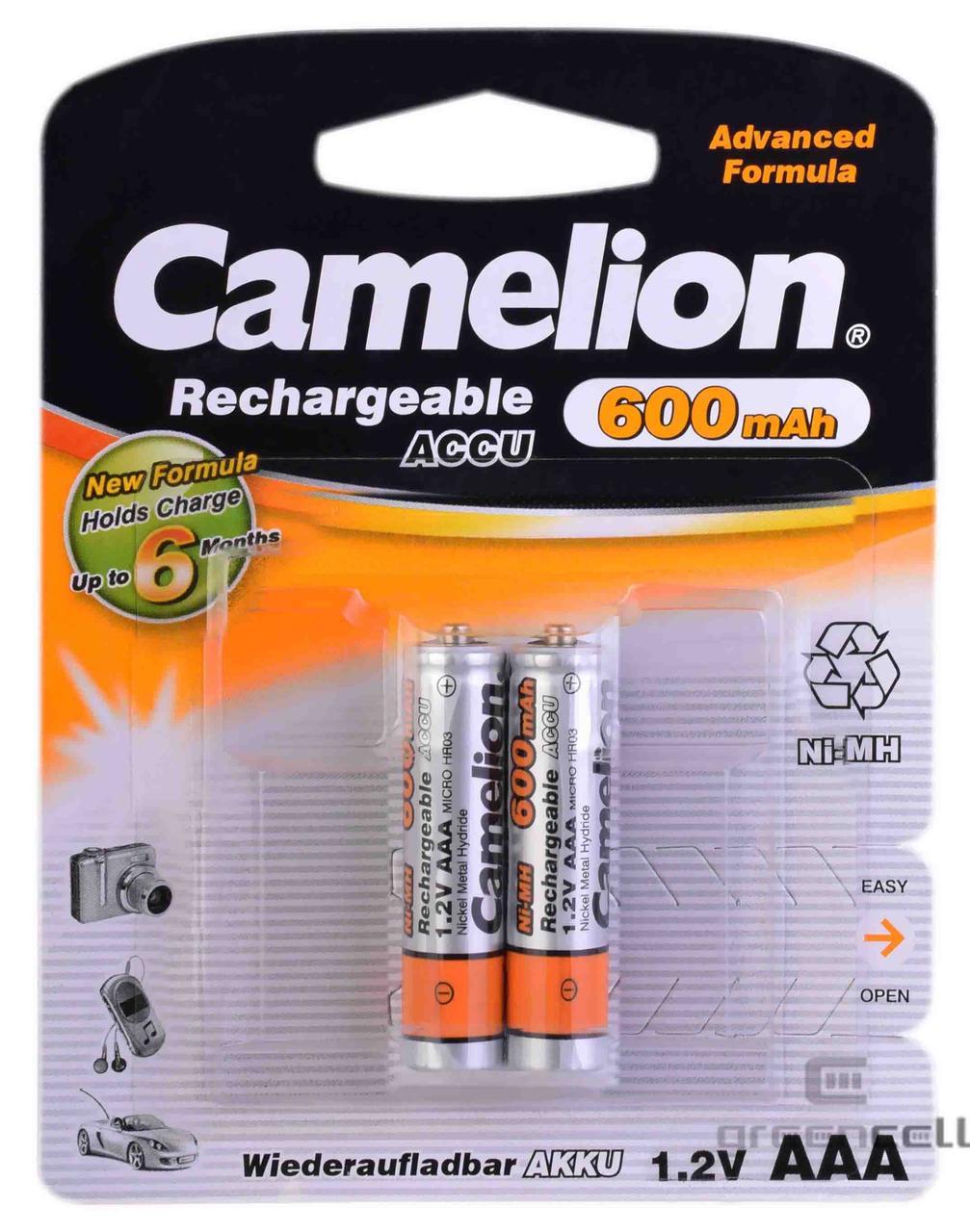 Акумулятор Camelion R03 600 mAh Ni-MH