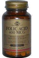 Solgar, Фолиевая кислота, FOLIC ACID, 400 мкг, 250 таблеток