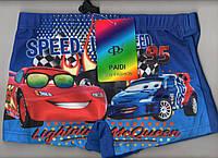 Плавки шорты купальные детские на мальчика PAIDI new fashion - тачки, 36-42 размер, синие, 7790