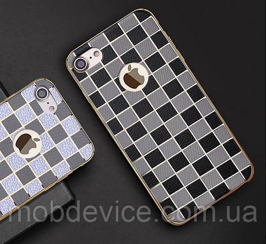 IPhone 7, 8 кожа в клетку