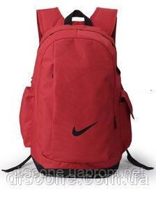 Рюкзак красный Найк повседневный спортивный дорожный с ручкой