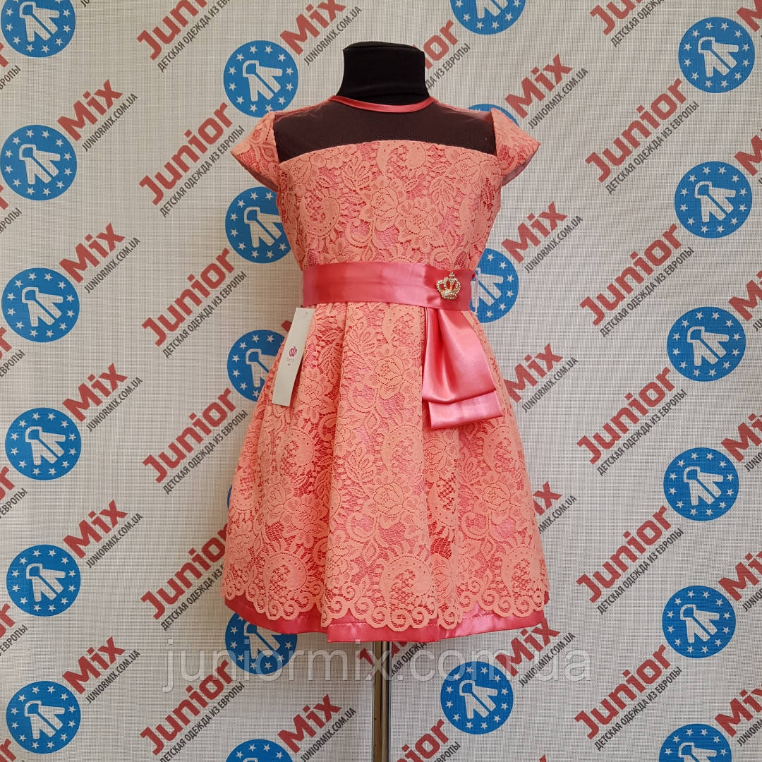 Нарядное гипюровое платье на девочку DEVA