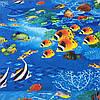 """Бязь с рыбками """"Подводный мир"""""""
