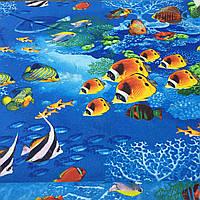 """Бязь с рыбками """"Подводный мир"""", фото 1"""