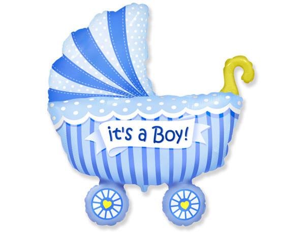 Шарик коляска большая для мальчика