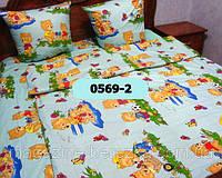 Комплект постельного в детскую кроватку, манеж МИШКИ 0569-2 М