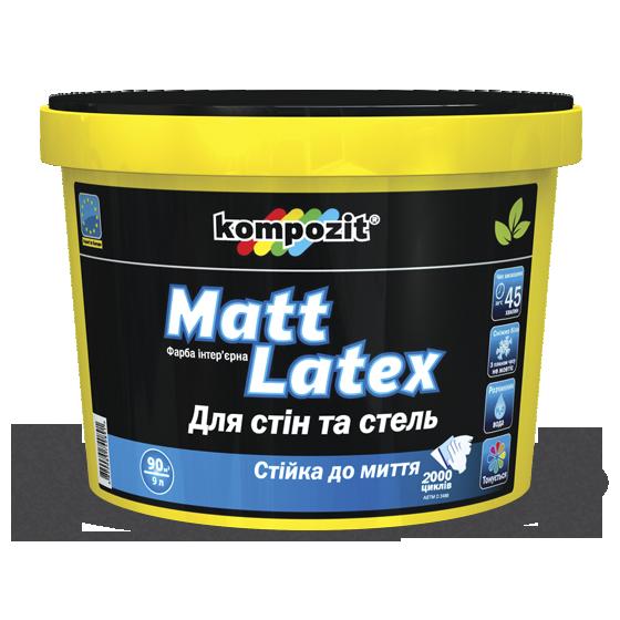 Глубокоматовая краска стен и потолка Kompozit Matt Latex 9л (Композит Матлатекс)