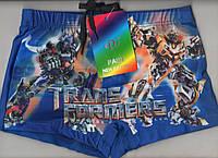 Плавки шорты купальные детские на мальчика PAIDI new fashion - трансформеры, 36-42 размер,синие,7786