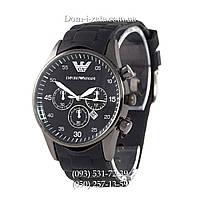 Мужские часы Emporio Armani black, элитные часы Эмпорио Армани черные