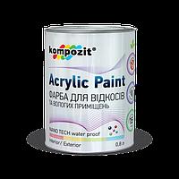 Краска для откосов Kompozit 0.8кг - Шелковисто-матовая краска для откосов и влажных помещений