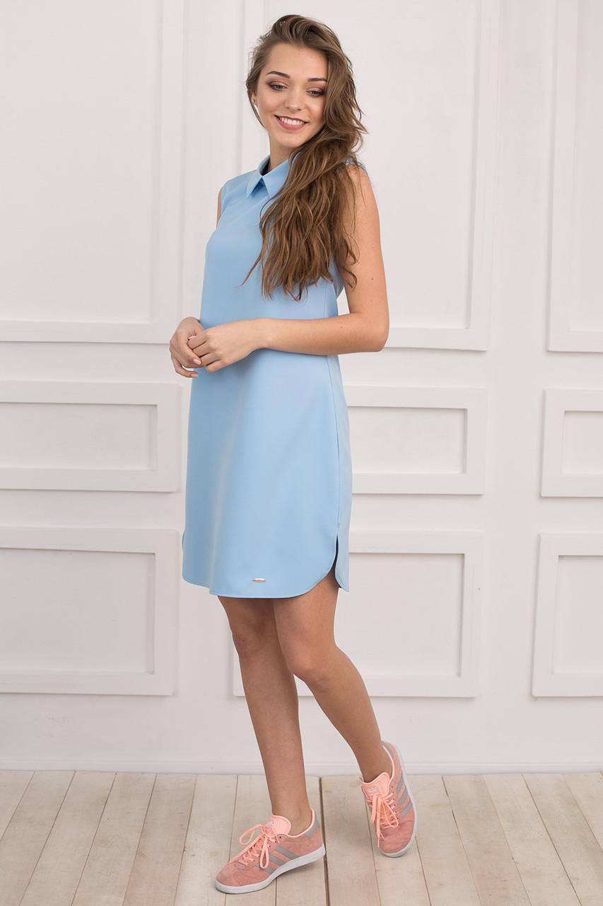 6710193a15e Молодежное платье свободного фасона без рукавов - Оптово-розничный магазин  одежды