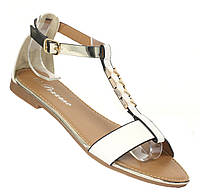 Босоножки женские белые без каблука размеры 38