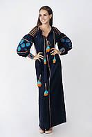 Вышитое платье лен бохо вышиванка, этно, бохо-стиль, вишите плаття вишиванка, Bohemian
