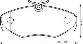Гальмівні колодки передні на Renault Trafic 2001-> — TEXTAR (Німеччина) - 23099 18,4 0 4