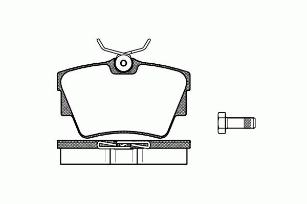 Тормозные колодки задние на Renault Trafic  2001->  —  TEXTAR (Германия) - 23980 17,0 1 4