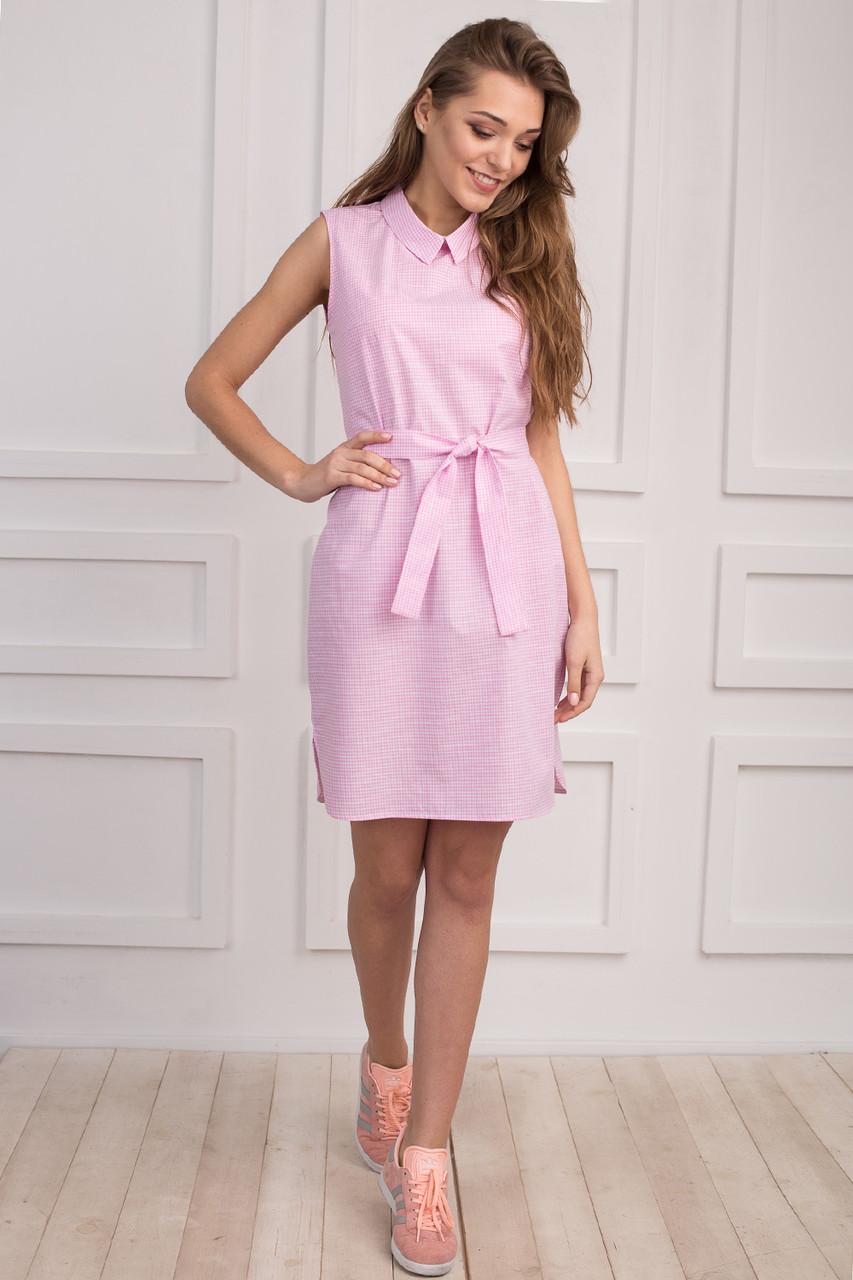 7ec69fa9363 Стильное платье-рубашка без рукава на лето - Оптово-розничный магазин  одежды