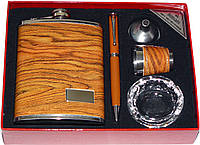 Подарочный набор 5 в 1: фляга/стопка/лейка/ручка/пепельница