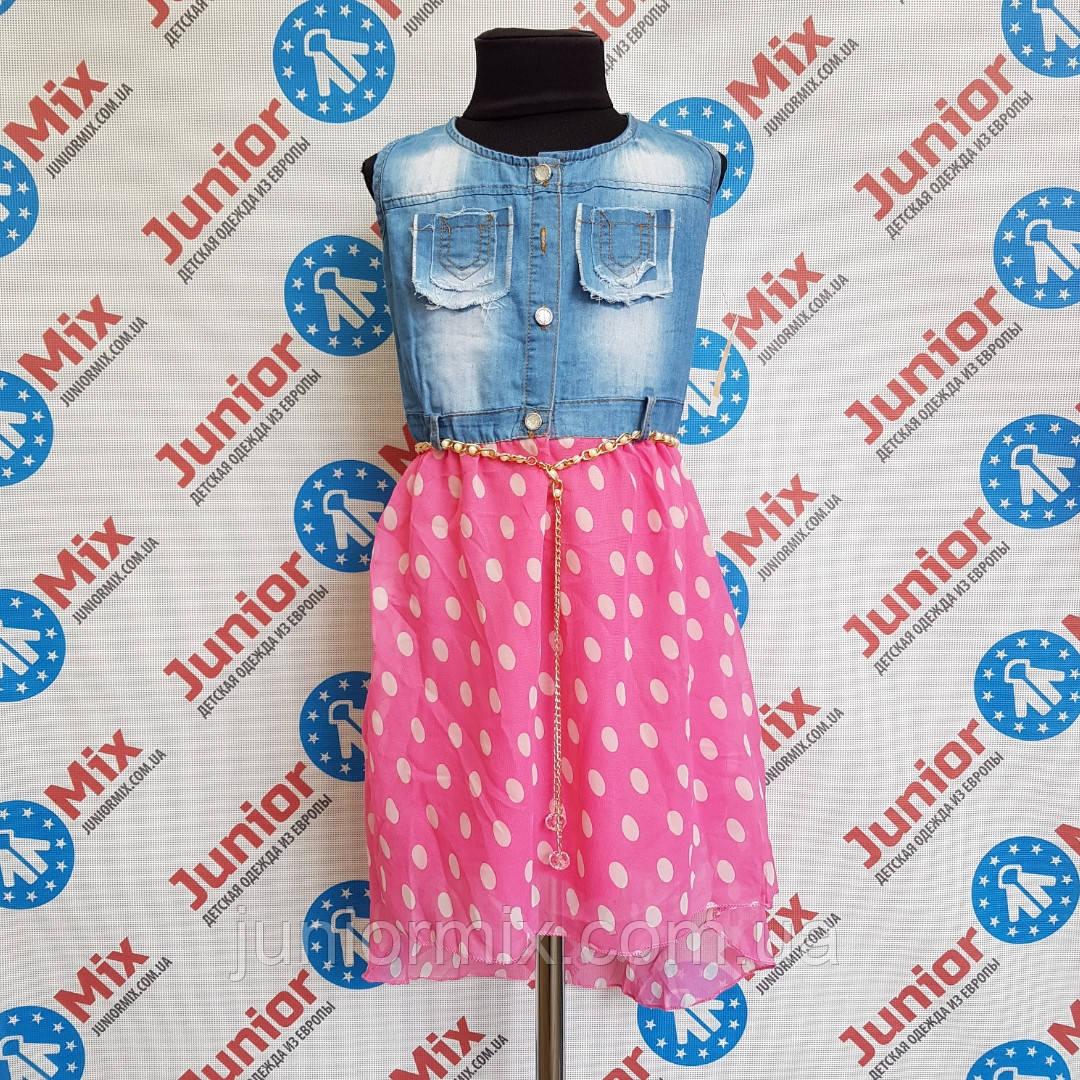 Сарафан комбинированый  джинс с шифоном на девочку