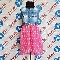 Сарафан комбинированый  джинс с шифоном на девочку , фото 1