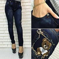 """Женские стильные джинсы """"мишка"""" Турция. Арт-8093/39"""