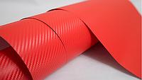 Пленка под карбон 3D красная