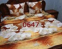 Комплект постельного РАНФОРС, рисунок 3Д, 100% хлопок, двуспальный, 2-х СПАЛКА 0647