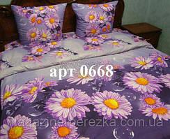 Полуторный комплект постельного, ранфорс, рисунок 3Д, 100% хлопок, Арт. 0668