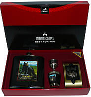 Подарочный набор с флягой Black Bear: фляга/стопка/лейка/зажигалка