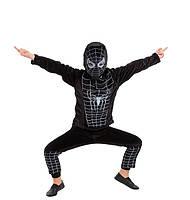 Костюм Человека - паука черный велюр, рост 100-110 см