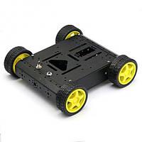 Металева платформа для робота Arduino, Raspberry Pi, AVR, STM32 (4 колеса, 4 мотора), фото 1