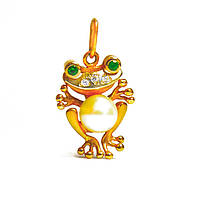 Золотой подвес Лягушка