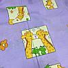 Бязь детская с жирафами на сиреневом фоне