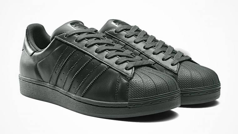 Кроссовки мужские в стиле Adidas Superstar Black, фото 2